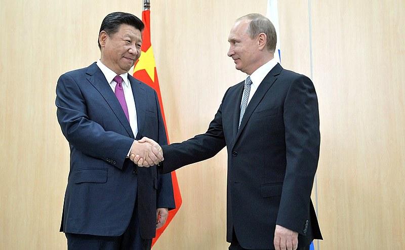 Presidente da China, Xi Jinping, e seu homólogo russo, Vladimir Putin