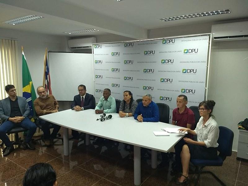 Coletiva de imprensa ocorreu nesta quinta-feira (04) na sede da Defensoria Pública da União em São Luís (MA)