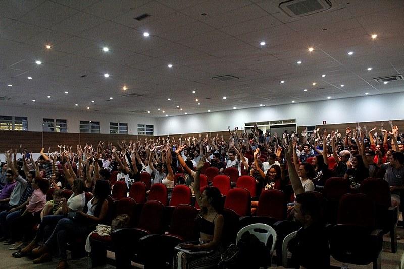 Ao fim, ficou deliberada que o resultado da assembleia seria levado para apreciação do Conselho Universitário (Consuni) em reunião