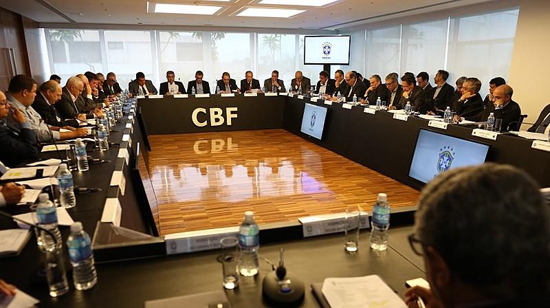 Reunião de conselho técnico da Série A na CBF