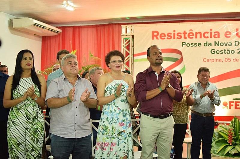 Solenidade homenageou a nova presidenta da Fetape, Cícera Nunes, bem como os novos diretores, suplentes e conselho fiscal