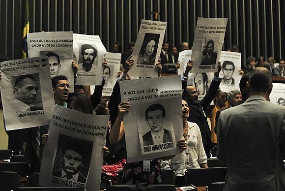 Ato realizado em 2014, quando a Comissão Nacional da Verdade publicou lista oficial de mortos e desaparecidos políticos durante a ditadura