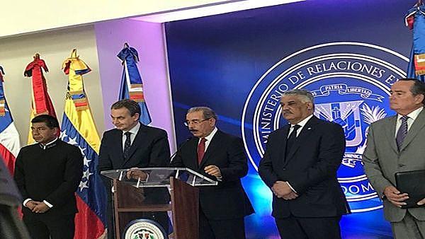 Danilo Medido, presidente dominicano, foi um dos mediadores do diálogo entre governo e oposição venezuelanos