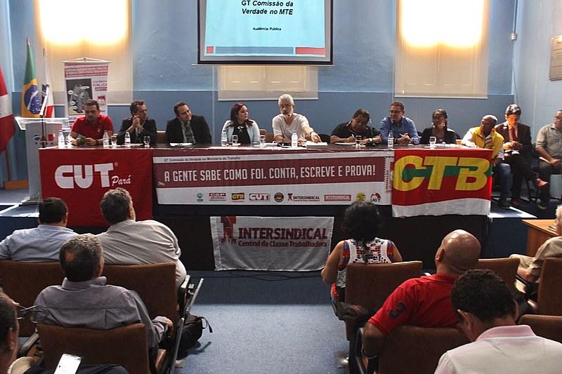 Segunda audiência pública do grupo de trabalho que investiga os processos de perseguição política no Ministério do Trabalho