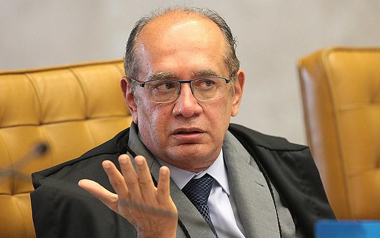 Ministro Gilmar Mendes durante sessão do Supremo Tribunal Federal
