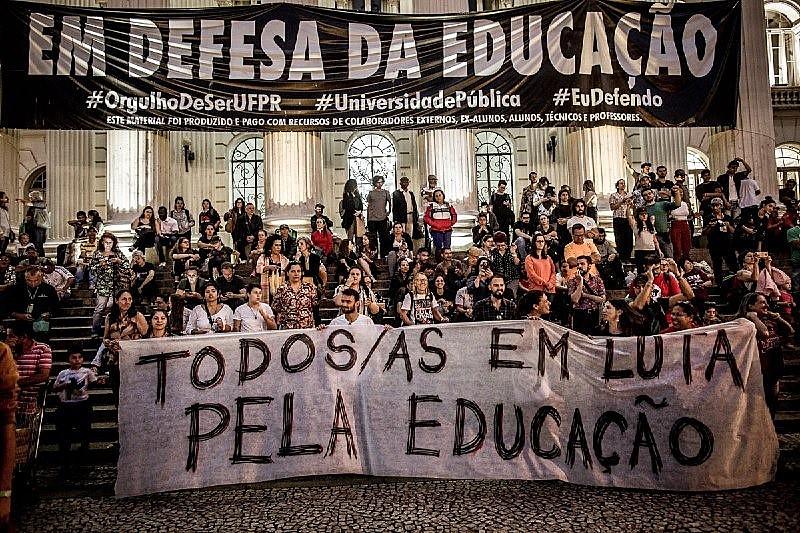 Aula pública após a manifestação relembrou que, há 31 anos, docentes em greves foram reprimidos pela PM no centro da cidade