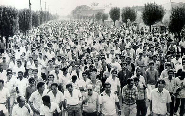 Passeata dos trabalhadores na Ford em 1989: tradição de organização na fábrica vem desde os anos 1960