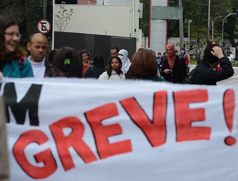 Manifestação de alunos, estudantes e professores da USP, em 2014