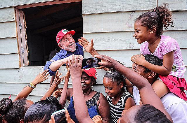 Brazil's ex-president Lula in the Northeast, during caravan tour around Brazil