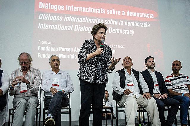 Además de representantes de partidos políticos, el evento tuvo la presencia de la ex presidenta Dilma Rousseff