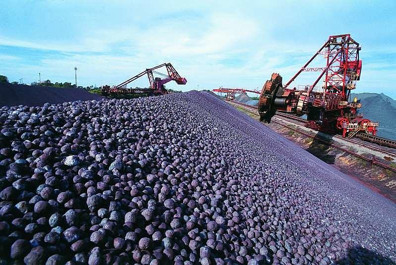 Minério de ferro, sozinho, representa 8,82% do total das exportações brasileiras, atrás apenas da soja