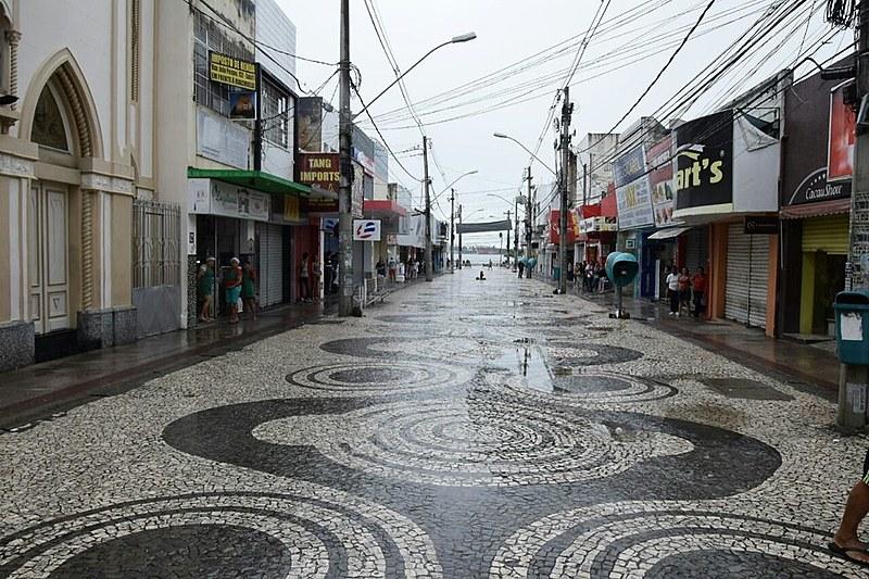 Centro de Aracaju (SE) vazio, com a adesão dos trabalhadores à Greve Geral.