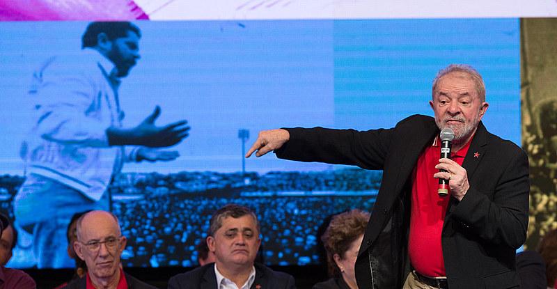 Lula discursou durante congresso do PT, em Brasília; evento marca escolha de nova diretoria partidária