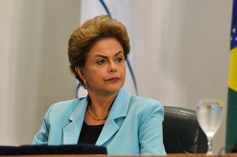Ex-presidenta Dilma Rousseff durante agenda de seu governo
