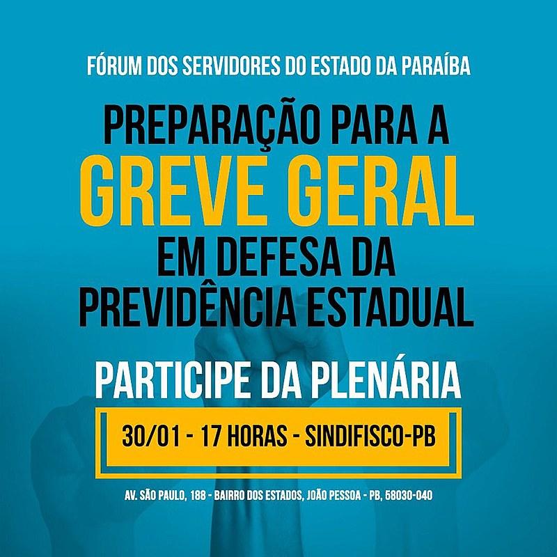 O Fórum dos Servidores Públicos Estaduais da Paraíba foi rearticulado em virtude da luta contra a Reforma da Previdência estadual.