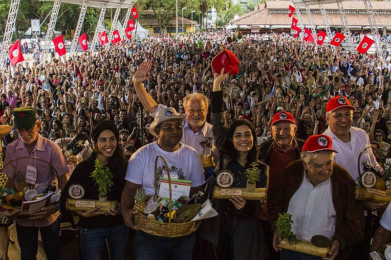 Os conferencistas no Parque da Água Branca, zona oeste na capital paulista