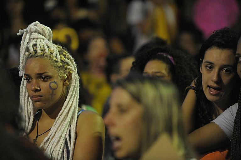 Protesto no Dia Internacional do Combate à Violência Contra a Mulher em 2015 no Rio de Janeiro (RJ)