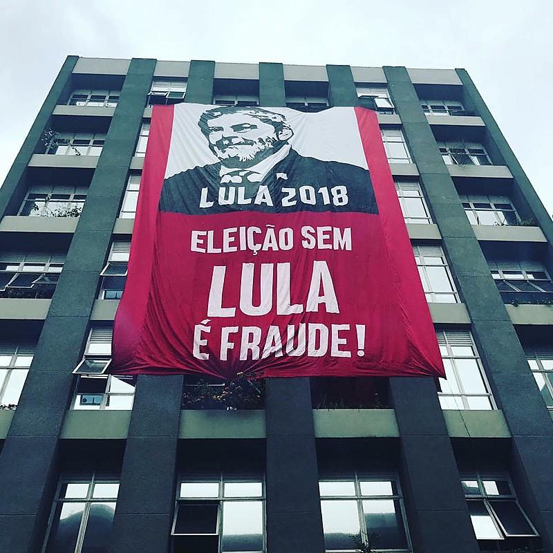 Sede do Diretório Nacional do PT em São Paulo preparada especialmente para o Comitê popular em defesa da candidatura de Lula