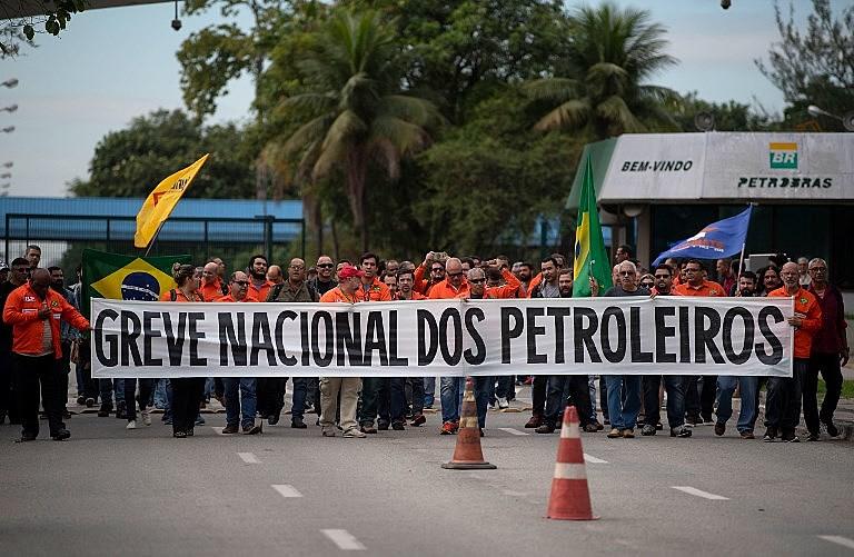 Greve dos petroleiros em maio de 2018 pela saída do presidente da Petrobras, Pedro Parente, e a revisão dos preços de derivados de petróleo