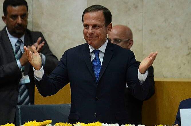 João Doria, do PSDB, durante a posse como prefeito de São Paulo, em o 1º de janeiro