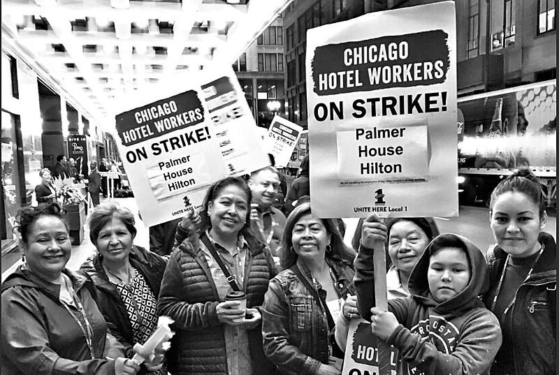 Familiares de trabalhadoras e trabalhadores em greve participam de piquete