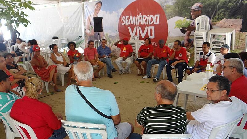 Encontro do SINDSEP-PE no Acampamento Popular em Defesa da Democracia