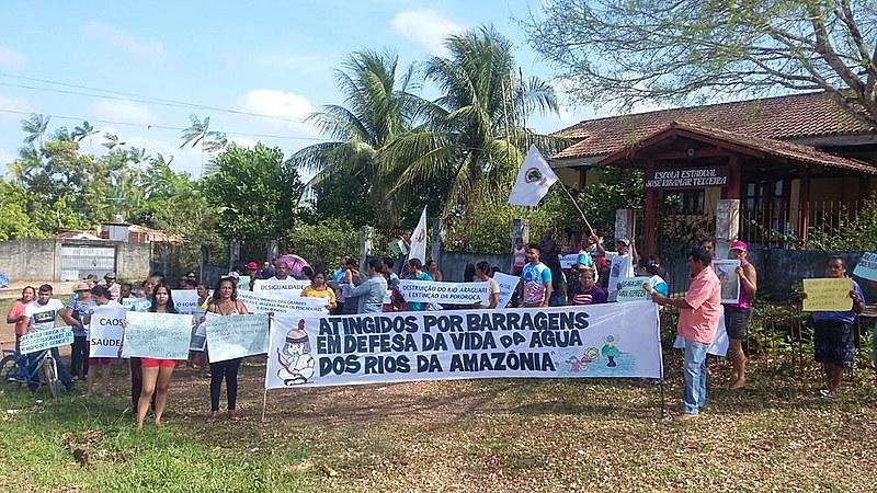 Ato realizado pelo MAB em Porto Grande, município vizinho de Ferreira Gomes, no Amapá.