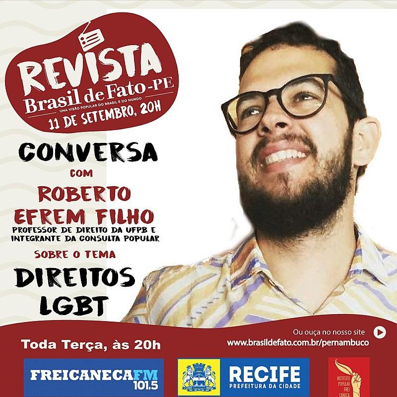 O convidado é Roberto Efrem Filho, professor de direito da UFPB e integrante da Consulta Popular