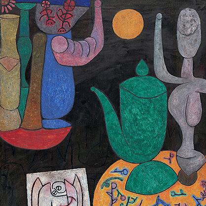 O artista suíço tinha um lema: nenhum dia sem linha. Na foto, um pedaço da última obra de Paul Klee