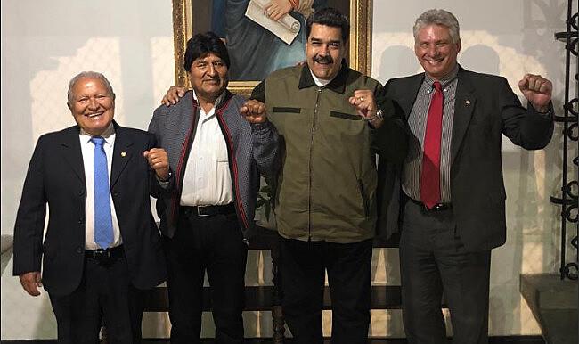 Presidentes de El Salvador, Bolívia e Cuba já estão em Caracas