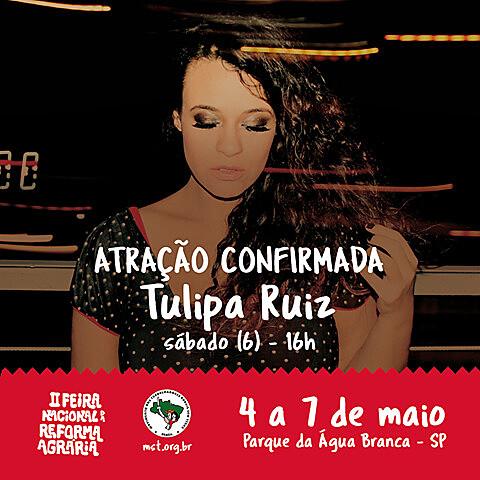 Tulipa Ruiz é uma das atrações da programação da Feira