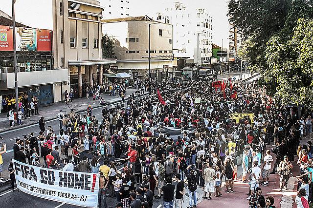Manifestação contra a Copa do Mundo no Rio de Janeiro em 2014