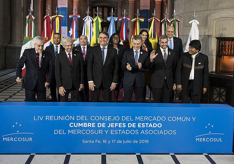 Além de Bolsonaro, compareceram ao evento Mauricio Macri (Argentina), Tabaré Vazquez (Uruguai) e Mario Abdo Benítez (Paraguai)