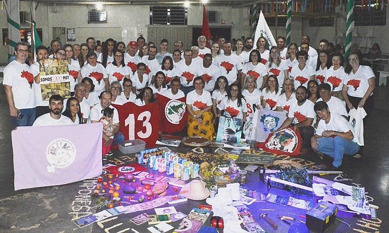 """Os educandos e educandas escolheram o nome da turma de """"Euclides dos Santos Rodrigues"""", militante que participou da formação MST (SC)"""