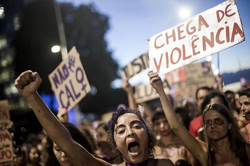 Nas manifestações do Dia Internacional da Mulher, o fim da violência foi uma das exigências