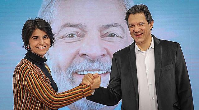 Manuela D'Ávila y Fernando Haddad, el binomio presidencial del PT