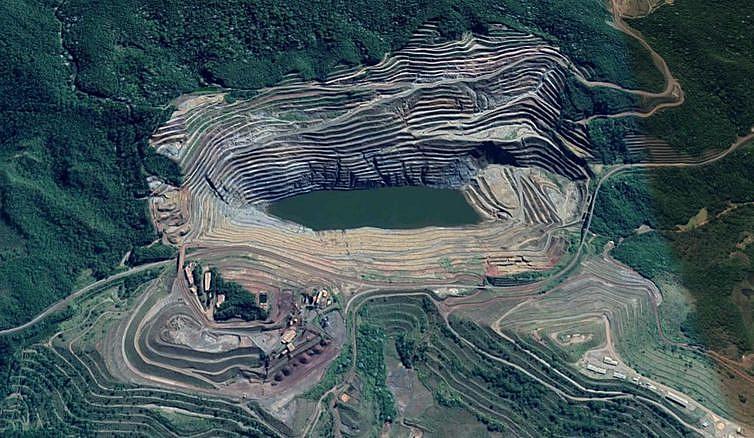 Barragem Sul Superior da mina de Gongo Soco possui 85 metros de altura e 5 milhões de m³ de rejeitos