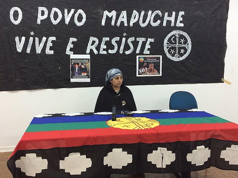 Izabel Huala, mãe de líder mapuche preso faz coletiva de imprensa em São Paulo