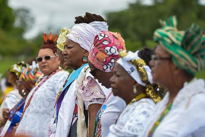 """Makota: """"Acreditar que, na atualidade, há igualdade é hipocrisia"""". Na foto, Marcha das Mulheres Negras de 2016, em Brasília"""
