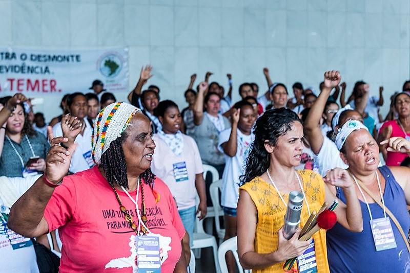 A ação que marca a luta das mulheres deste ano é construída pela Frente Brasil Popular
