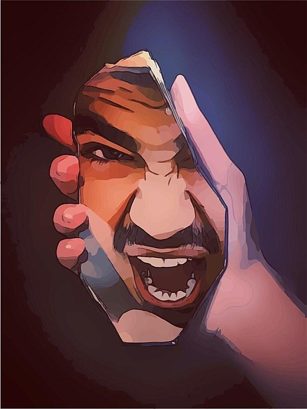 Ele se olhava no espelho e murmurava: agora ninguém te aguenta Zezão.