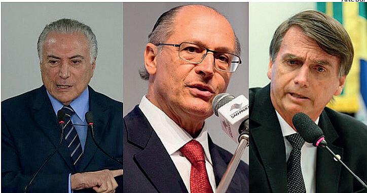 Atuais adversários, o ex-governador de São Paulo GeraldoAckmin(PSDB) e o deputado federal Jair Bolsonaro (PSL-RJ) tentam se afastar do pre