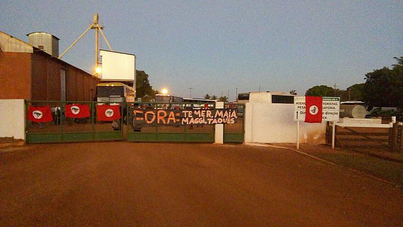 Fazenda do ministro Blairo Maggi, ocupada na manhã desta terça-feira.