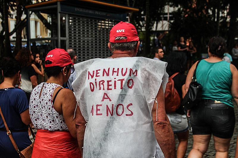 Greve Geral em Florianópolis (SC), no dia 15 de março de 2017