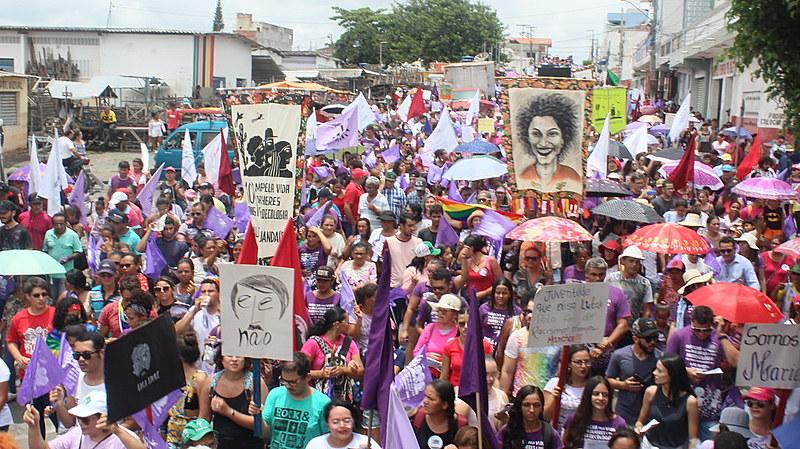 Marcha pela vida das mulheres e pela agroecologia aconteceu em Remígio (PB) nesta quinta.