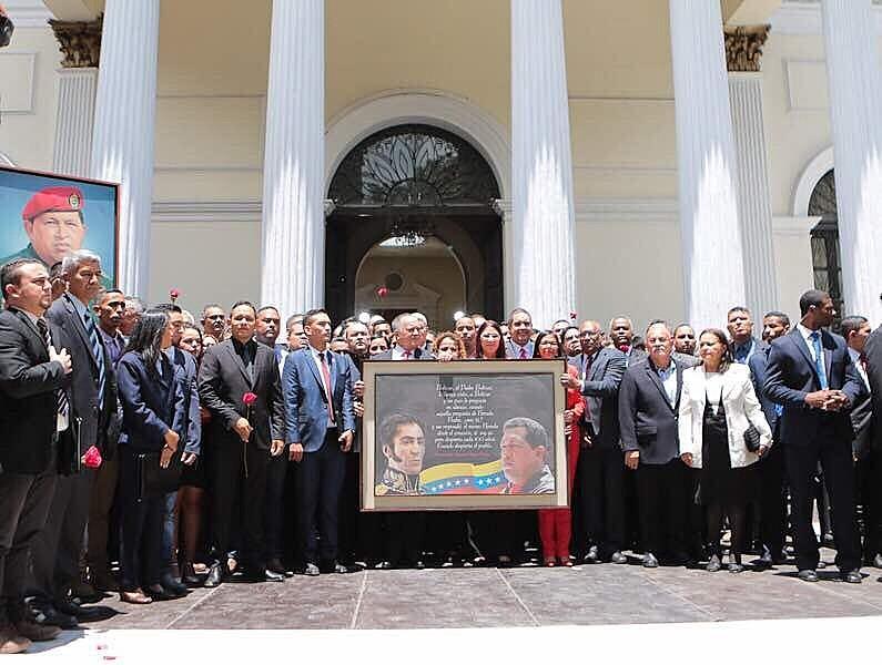 A cerimônia de posse dos membros da Assembleia Constituinte foi realizada no Palácio Federal Legislativo, em Caracas.