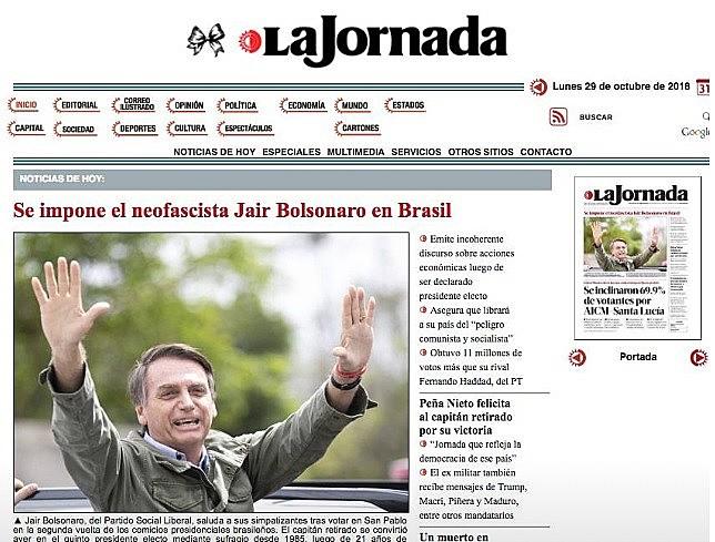 Jornal mexicano mostra ascensão de candidato que representa ideia radicais e alimento o ódio