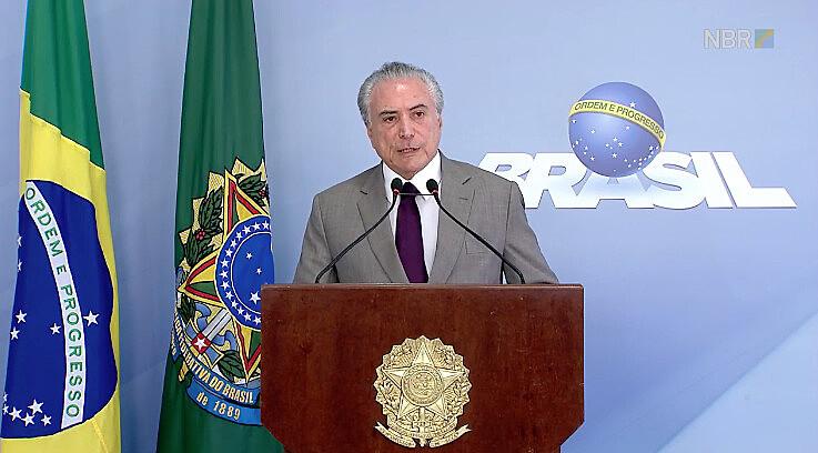 O presidente fez anúncio surpresa nesta segunda-feira (13) no Palácio do Planalto
