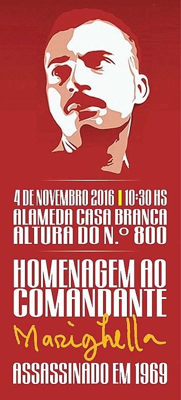 Cartaz do ato em homenagem a Carlos Marighella deste ano