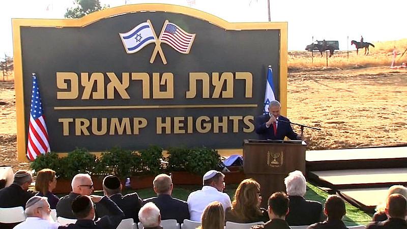 Primeiro-ministro isralense, Benjamin Netanyahu, e embaixador estadunidense participam de inauguração de assentamento